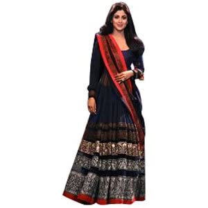 Ninecolours NC253 Shilpa Shetty Anarkali Suit - Blue