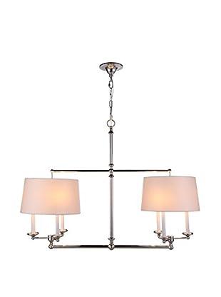 Urban Lights Crawford 6-Light Pendant Lamp, Polished Nickel