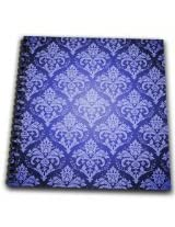 3dRose db1530831 Two Tone Blue Royal Damask Drawing Book, 8 by 8-Inch