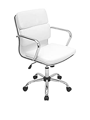 LumiSource Bachelor Office Chair, White