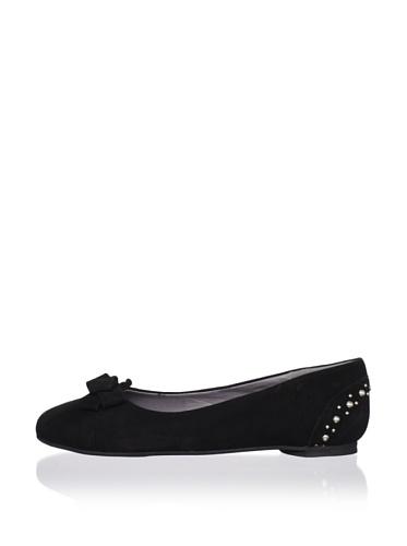 J. Loren Kid's Allisa Suede Dress Shoe (Black)