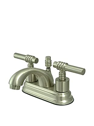 Kingston Brass Lavatory Faucet With Brass Pop-Up, Satin Nickel