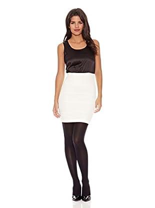Rare London Vestido Maykee (Negro / Blanco)