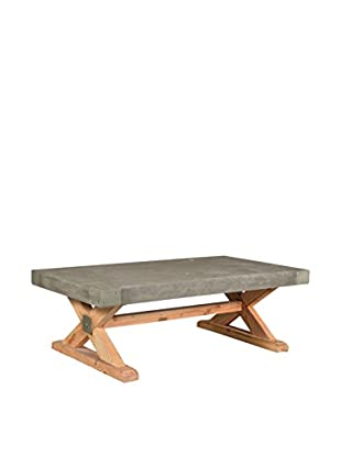 CDI Furniture Concrete Coffee Table, Brown/Grey