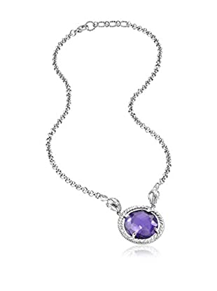 Just Cavalli Collar Just Queen Plateado / Morado