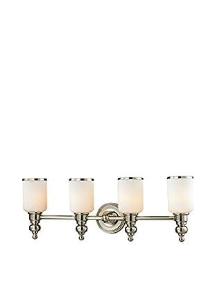 Artistic Lighting Bristol Collection 4-Light LED Bath Bar, Polished Nickel