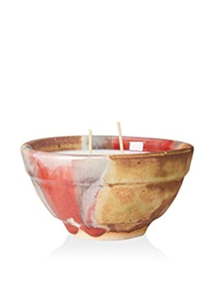 Yumscents 7-Oz. Soy Candle In Hand-Crafted Stoneware Pottery Bowl, Autumn Blush