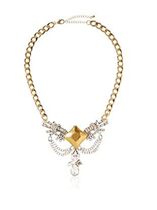 Bijou Leather and Crystal Chain Necklace