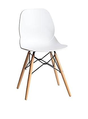 TOPAMBIENTES Stuhl 4er Set weiß