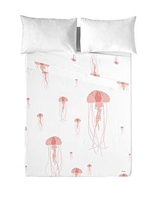 DAVID DELFIN Juego De Sábanas Jellyfish Pink