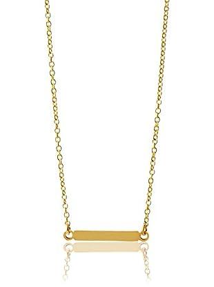 Ecru Metal Thin ID Necklace