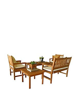 Amazonia Milano 5-Piece Seating Set, Brown
