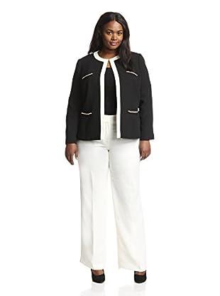 Tahari by ASL Plus Women's Crepe Pant Suit