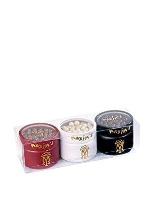 Maxim's de Paris Set of 3 Tins of Chocolate Pearls Gift Set