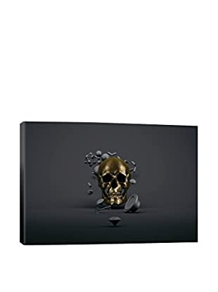 Golden Skull Gallery-Wrapped Canvas Print