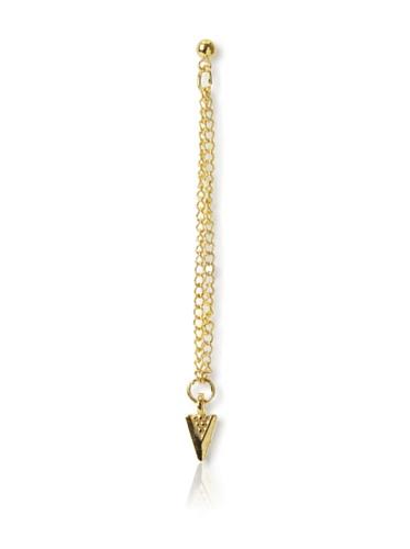 Shashi Tribal Chain Earrings, Yellow Gold