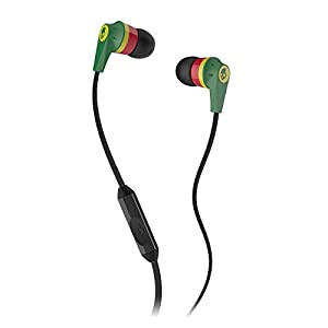 Skullcandy S2IKDY-102 In-Ear Headphone With Mic (Rasta)