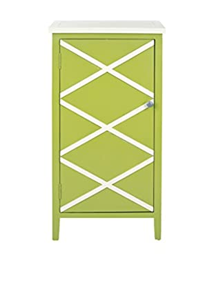 Safavieh Cary Small Cabinet, Lime Green/White
