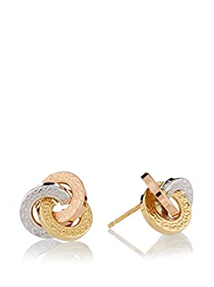 RHAPSODY Pendientes Interlocking oro 18 ct