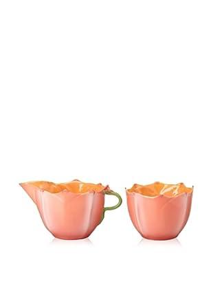 Mustardseed and Moonshine Set of 2 Milk & Sugar Shallow Rock Rose Aztec Orange