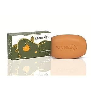 RICHFEEL CALENDULA SOAP FOR ACNE 75GM