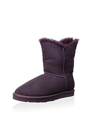 Koolaburra Women's Double Halo Short Short Asymmetrical Shaft Boot (Imperial Purple)