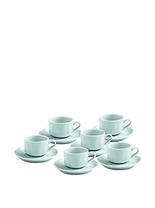 Tognana  Kaffeetasse mit Untertasse 6er Set Wienna weiß