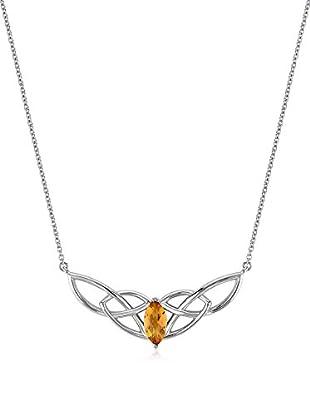Divas Diamond Collar Citrine Unending Universe Necklace plata de ley 925 milésimas