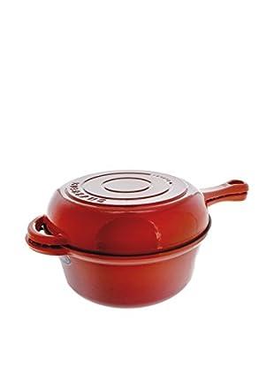 Chasseur Classique Red 3-Qt. Cast Iron Cook Saucepan