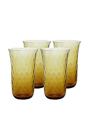 Padma Collection Optic 20-Oz. Coolers, Amber, Set of 4