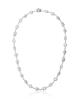 Cubic Zirconia by Kenneth Jay Lane Clear Multi-Shape Pave Necklace