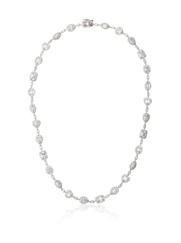 CZ by Kenneth Jay Lane Clear Multi-Shape Pave Necklace