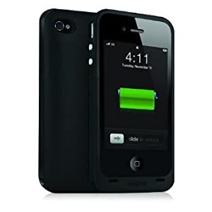 Juice Pack Plus for Rechargeable External Battery Case Made for iPhone 4 (2000 mAh) Black (1160-JPPLP4)