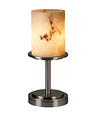 Justice Design Group Dakota 1-Light Table Lamp, Brushed Nickel