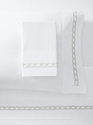 Dea Eliza Embroidery Sheet Set (White/Grey)