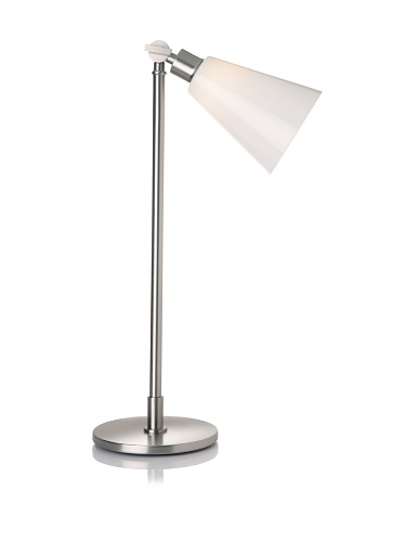 Lighting Enterprises Satin Nickel Adjustable Lamp (Satin Nickel)