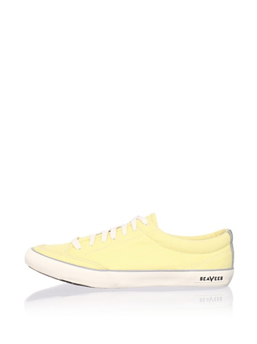 SeaVees Men's Lace-Up Tennis Sneaker (Faded Yellow)