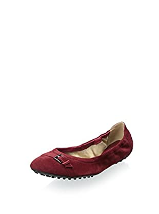 Tods Women's Ballet Flat with Buckle (Burgundy)