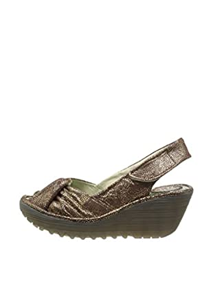 Fly London Sandalias Wedge (Marrón)