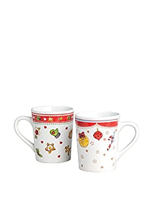 Merry Christmas Set Taza 6 Uds. 350 Ml Blanco