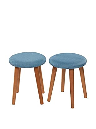 Chic Orange Set Taburete 2 Uds. Stool