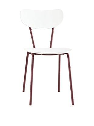 13 Casa Stuhl Color F4 weiß/rot