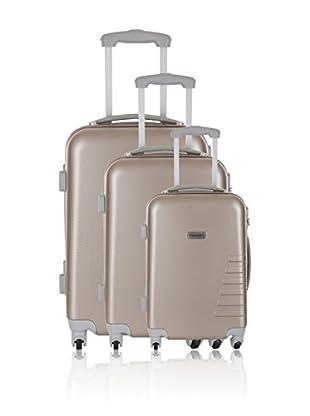 Travel ONE Set de 3 trolleys rígidos Batley Beige