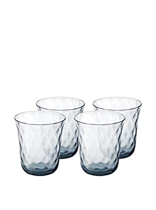 Padma Collection Optic Double Old Fashioned 12.5-Oz. Glasses, Blue, Set of 4