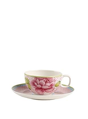 Villeroy & Boch Rose Cottage 2-Piece 6.7-Oz. Tea Cup & Saucer Set, Pink/White