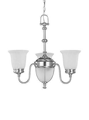 Nuvo Lighting Salem 3-Light Chandelier, Brushed Nickel