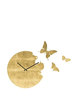 Diamantini & Domeniconi Reloj De Pared Butterfly Dorado