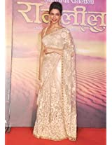 Ramleela Star Deepika Padukone In Cream Saree