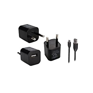 Callmate USB Home Cube Charger With Micro Data & Charging Cable Black
