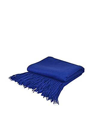 PÜR Cashmere Signature Blend Throw, Cobalt